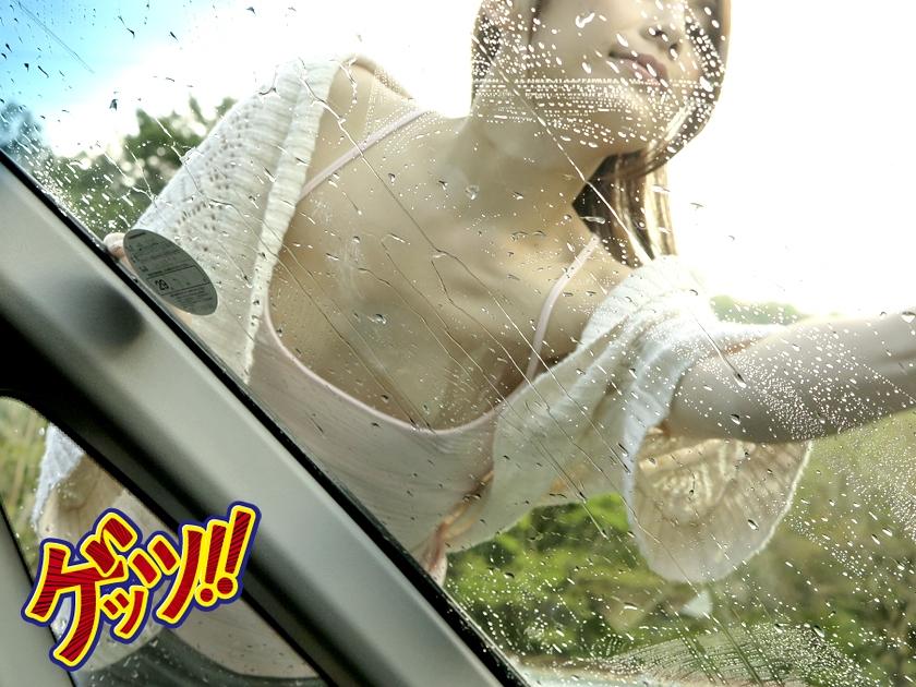 一緒に洗車に来たツレの彼女がまさかのノーブラ!僕のエロ視線で羞恥興奮した彼女の乳首が超ビンビンなので…【三次元】のエロ画像トップ