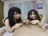 【VR】デジヘル 可愛すぎる2人妹に濃厚フェラチオされる! 星空もあ&新村あかり