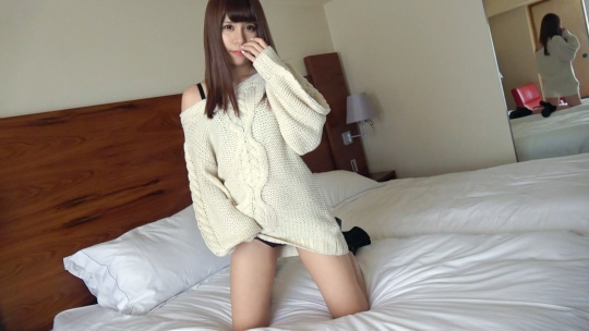 【可愛い服の下はエロ下着】寝取られ願望のある撮影会モデル