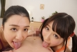 【VR】美少女姉妹が関西弁で僕のチ○ポを奪い合う。お兄ちゃん淫語満載見つめ合いキスフェラチオ 飛鳥りん 古川いおり