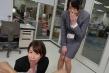 【VR】SOD女子社員 ウブな新卒1年目女子社員おちんちん研修、恥じらいキス、囁き淫語、密着手コキでフル勃起大量射精「アダルト会社としてウブな新卒女子社員に毎年行っております。」