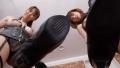 【VR】W痴女M男調教 ヒール踏み、唾飲み、バラ鞭、ろうそく垂らし、革手袋手コキ 朝桐光 涼宮琴音